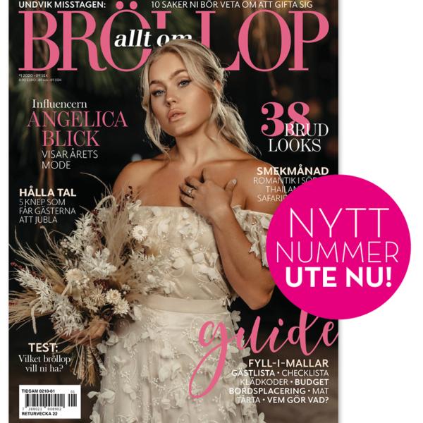 Angelica Blick visar årets bröllopsmode